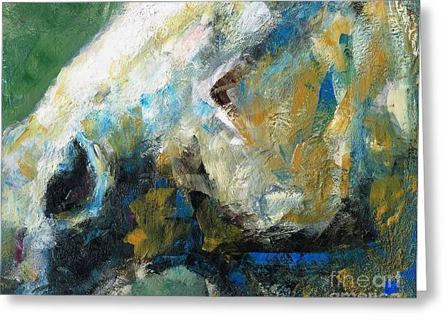 Abstract Horse Greeting Cards - Alerted Greeting Card by Frances Marino
