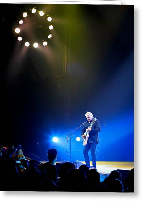 Live Concerts Greeting Cards - Alex Lifeson Greeting Card by April Reppucci
