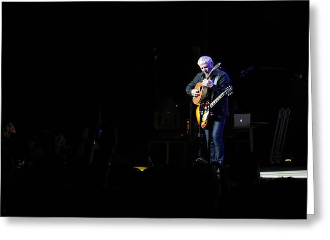 Live Concerts Greeting Cards - Alex Lifeson Two Greeting Card by April Reppucci