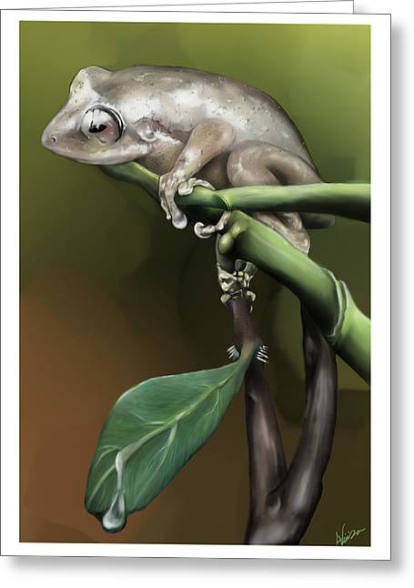 Coqui Greeting Cards - Alex Vieira Greeting Card by Emeliano Vieira