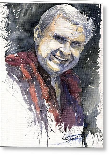 People Greeting Cards - Alex Greeting Card by Yuriy  Shevchuk