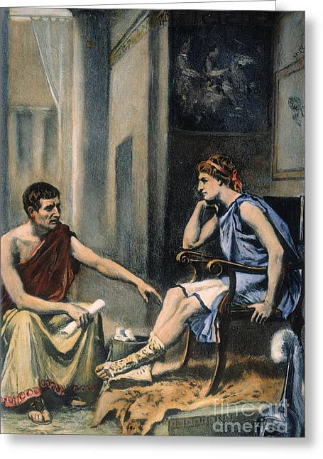 Aristotle Greeting Cards - Alexander & Aristotle Greeting Card by Granger