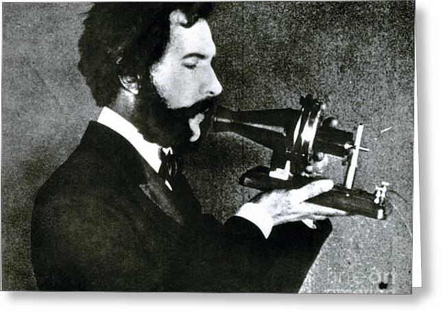 Breakthrough Greeting Cards - Alexander Bell, Scottish-american Greeting Card by Science Source