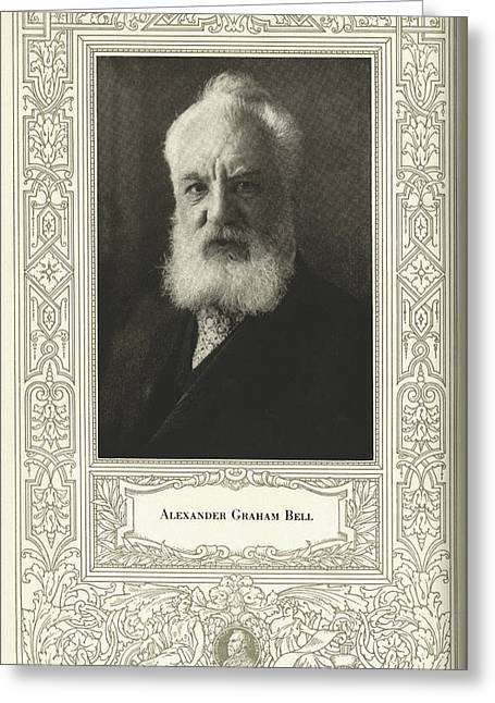John Fritz Medal Greeting Cards - Alexander Graham Bell, British Inventor Greeting Card by Science, Industry & Business Librarynew York Public Library