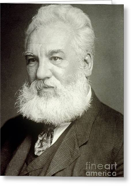 Advancement Greeting Cards - Alexander Graham Bell Greeting Card by Photo Researchers