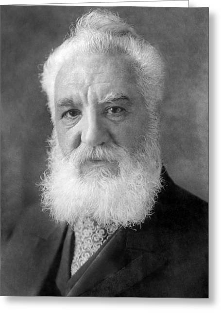 Historical Speech Greeting Cards - Alexander Graham Bell, Telephone Pioneer Greeting Card by Humanities And Social Sciences Librarynew York Public Library