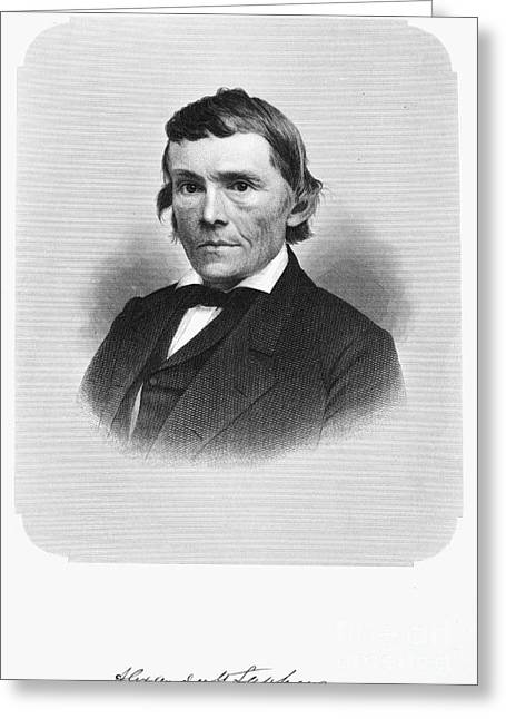Autograph Greeting Cards - Alexander H. Stephens Greeting Card by Granger