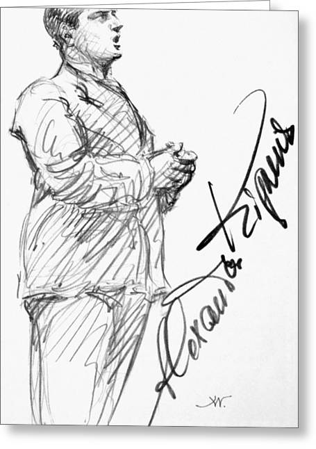 Autograph Greeting Cards - Alexander Kipnis (1891-1978) Greeting Card by Granger