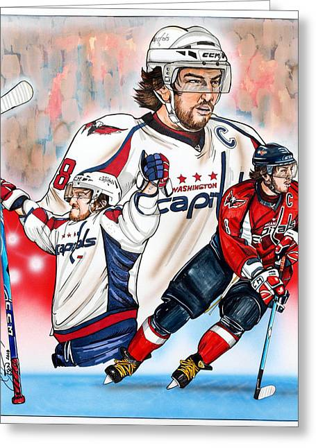 Alex Ovechkin Greeting Cards - Alexander The Great Greeting Card by Dave Olsen