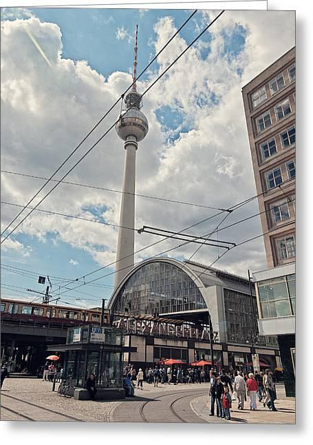 Alexanderplatz Greeting Cards - Alexanderplatz Greeting Card by Benjamin Matthijs