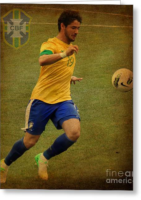 Givanildo Vieira De Souza Greeting Cards - Alexandre Pato Greeting Card by Lee Dos Santos