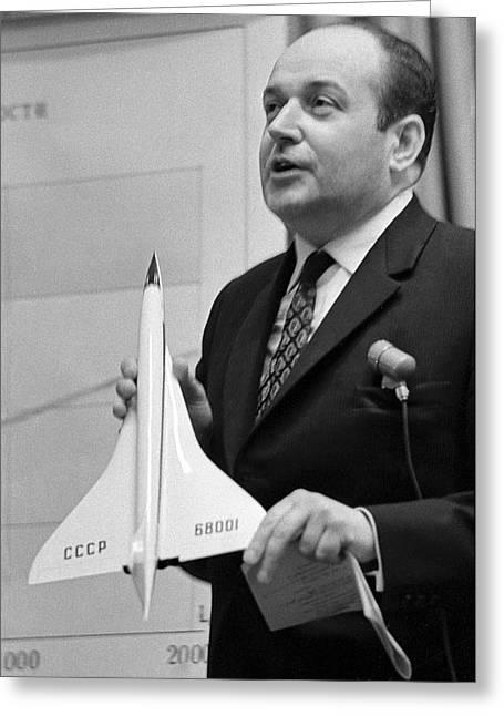 Surname T Greeting Cards - Alexei Tupolev, Soviet Aircraft Designer Greeting Card by Ria Novosti