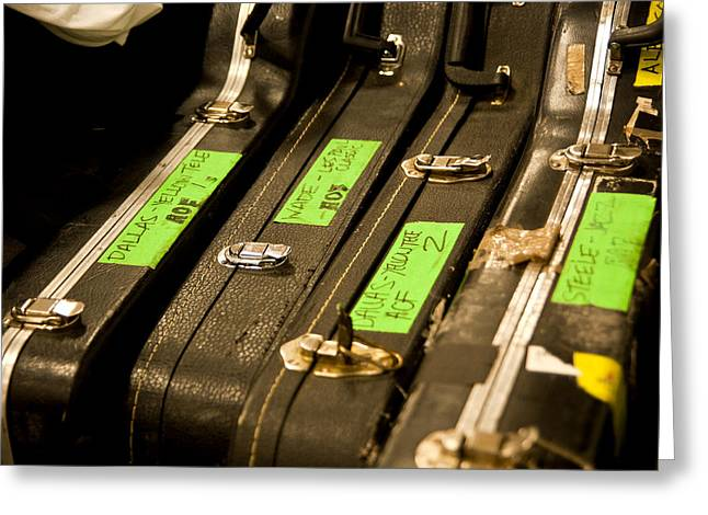 Guitar Case Greeting Cards - Alexisonfire Guitars Greeting Card by Cale Best