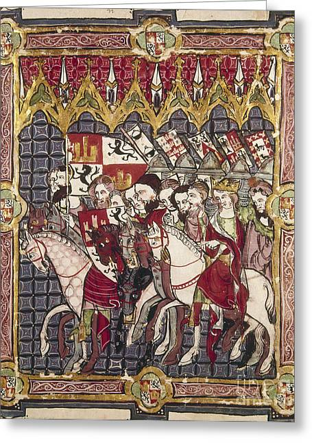Sidesaddle Greeting Cards - Alfonso Vii (1105-1157) Greeting Card by Granger
