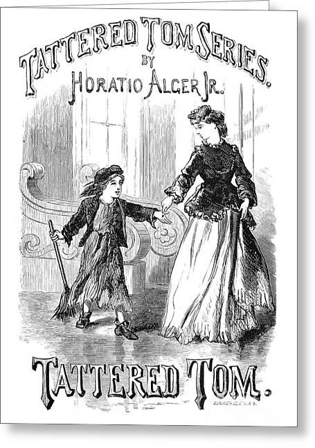 Tom Boy Greeting Cards - Alger: Tattered Tom Greeting Card by Granger