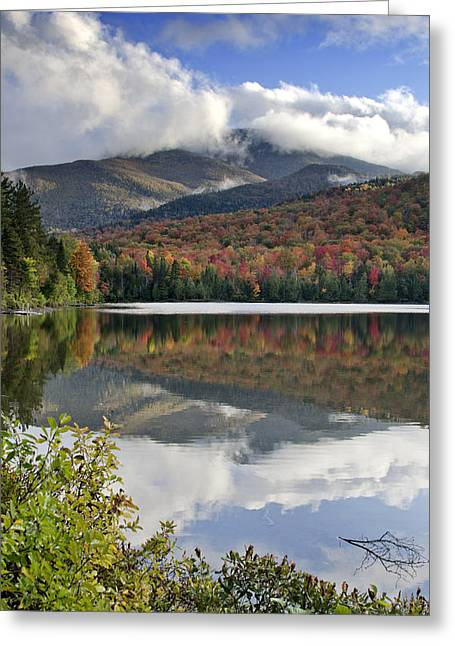 Heart Lake Greeting Cards - Algonquin Peak from Heart Lake - Adirondack Mountains Greeting Card by Brendan Reals