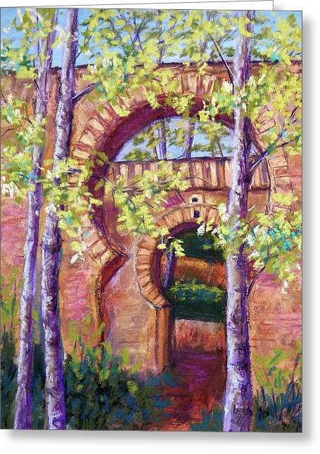 Arch Pastels Greeting Cards - Alhambra Gates Greeting Card by Candy Mayer