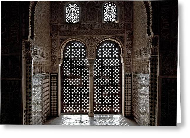 Alhambra window Greeting Card by Jane Rix