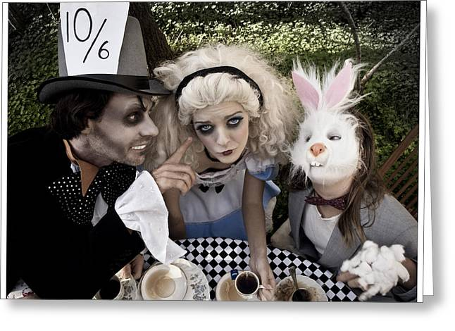 Mad Hatter Greeting Cards - Alice and Friends 2 Greeting Card by Kelly Jade King