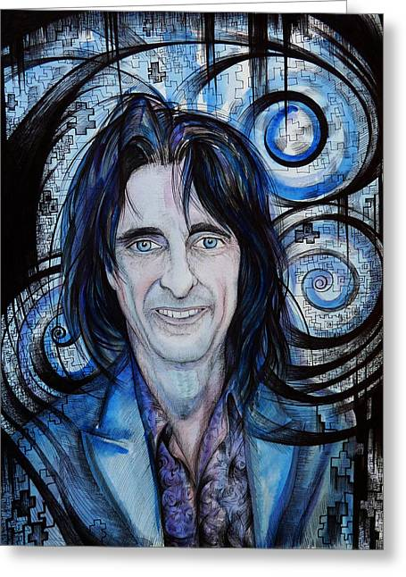 Kindred Spirits Greeting Cards - Alice Cooper. The Kindred Spirit Greeting Card by Anna  Duyunova