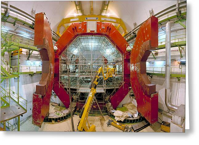 Cern Greeting Cards - Alice Detector Magnets Greeting Card by David Parker