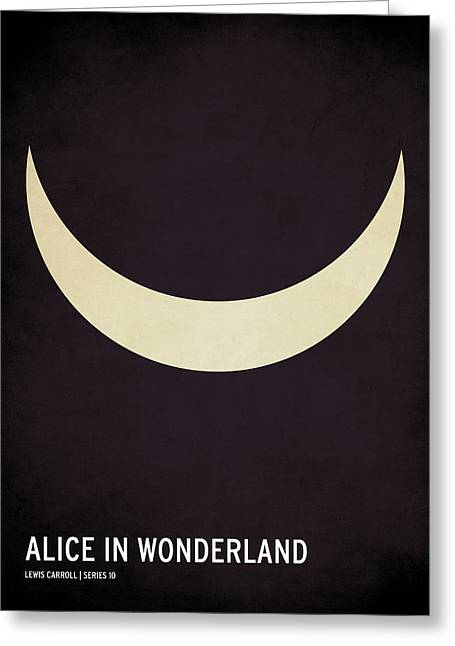 Graphic Design Greeting Cards - Alice in Wonderland Greeting Card by Christian Jackson