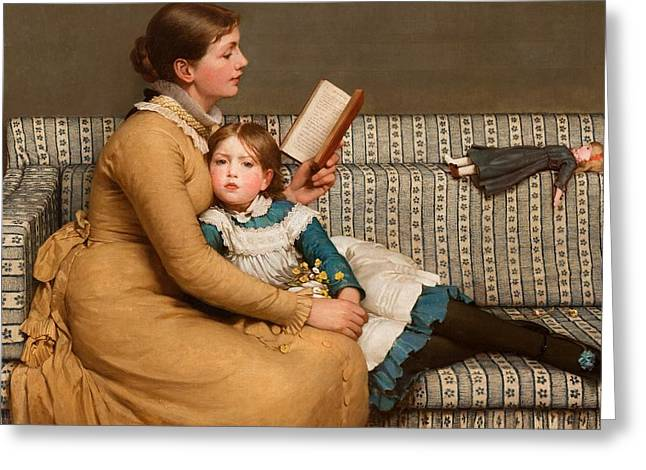 Hug Greeting Cards - Alice in Wonderland Greeting Card by George Dunlop Leslie