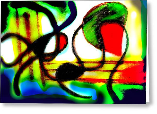 Abstract Digital Pastels Greeting Cards - Alien Aracno surgery 2 Greeting Card by Stephanie Margalski