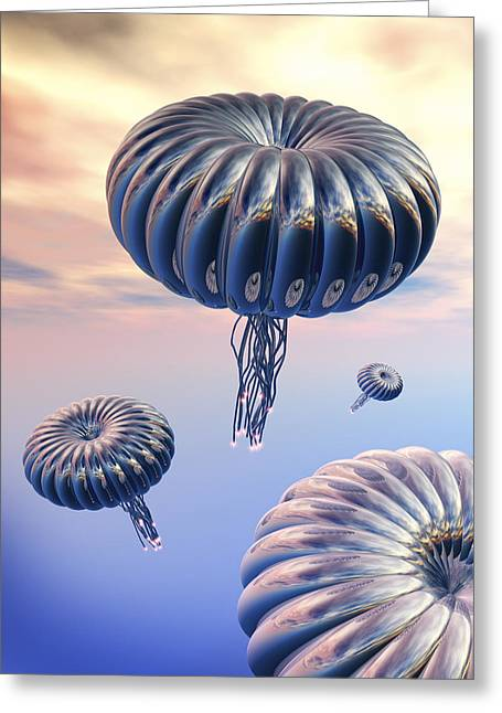 Wonderous Greeting Cards - Alien Life Greeting Card by Victor Habbick Visions