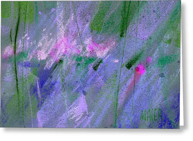 Fantacy Greeting Cards - Alien Memories 3 purple Greeting Card by Donald Maier