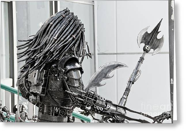 Streets Sculptures Greeting Cards - Alien Predator Greeting Card by Yurix Sardinelly
