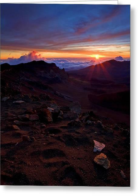 Haleakala Greeting Cards - Alien Sunrise Greeting Card by Mike  Dawson