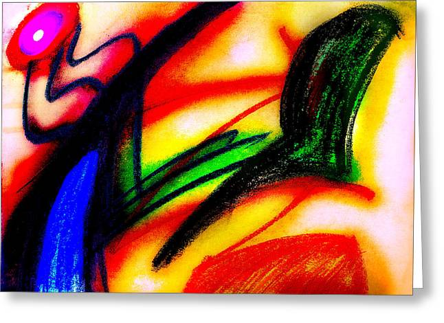 Bright Pastels Greeting Cards - Alien Suntan II Greeting Card by Stephanie Margalski