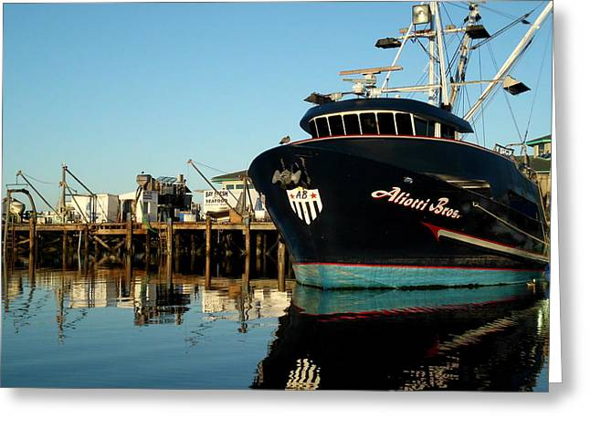Moss Landing Boats Greeting Cards - Aliotti Brothers Greeting Card by Jim Salisbury