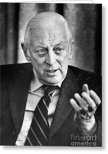 Cooke Greeting Cards - Alistair Cooke (1908-2004) Greeting Card by Granger