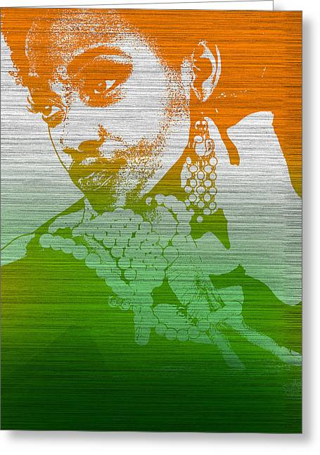 African Woman Greeting Cards - Aliyah Greeting Card by Naxart Studio