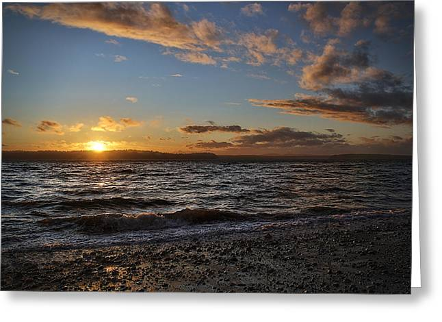 Surreal Landscape Greeting Cards - Alki Sweet Dreams Greeting Card by James Heckt