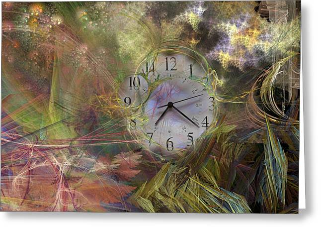Second Movement Greeting Cards - All About Time Greeting Card by Betsy A  Cutler