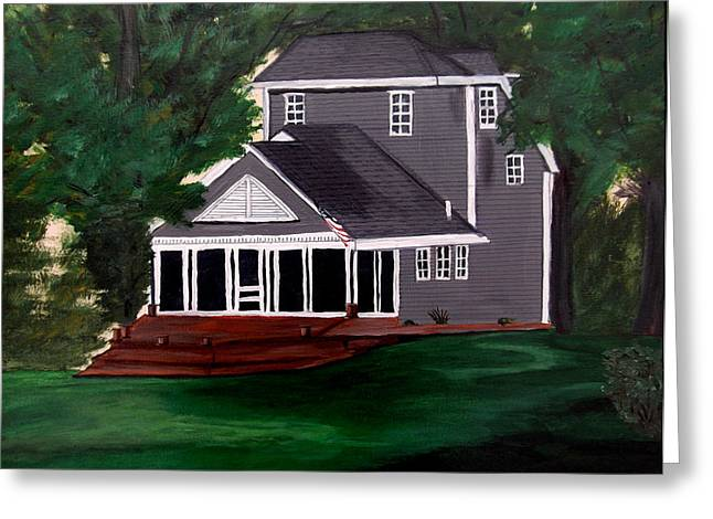 Screen Doors Paintings Greeting Cards - All American Greeting Card by Angela Pari  Dominic Chumroo