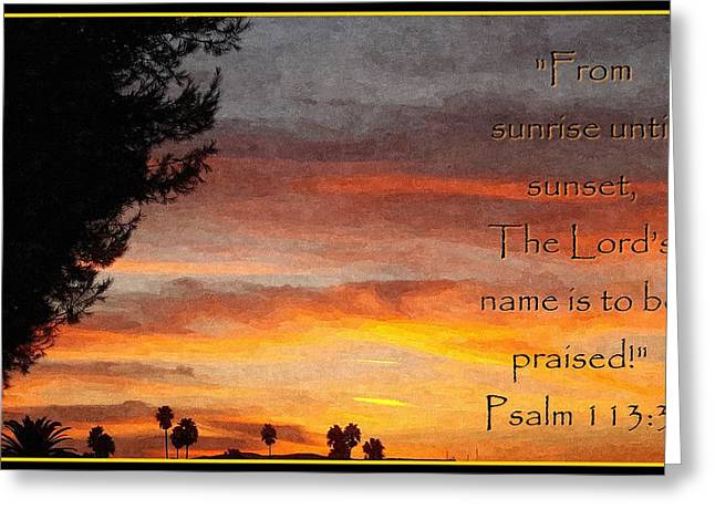 Motivational Poster Greeting Cards - All Day Praise Greeting Card by Glenn McCarthy Art and Photography
