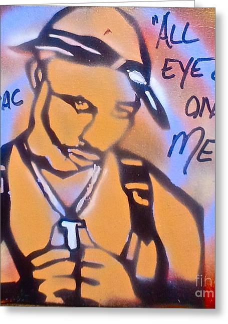 Free Speech Greeting Cards - All Eyez On Me Greeting Card by Tony B Conscious