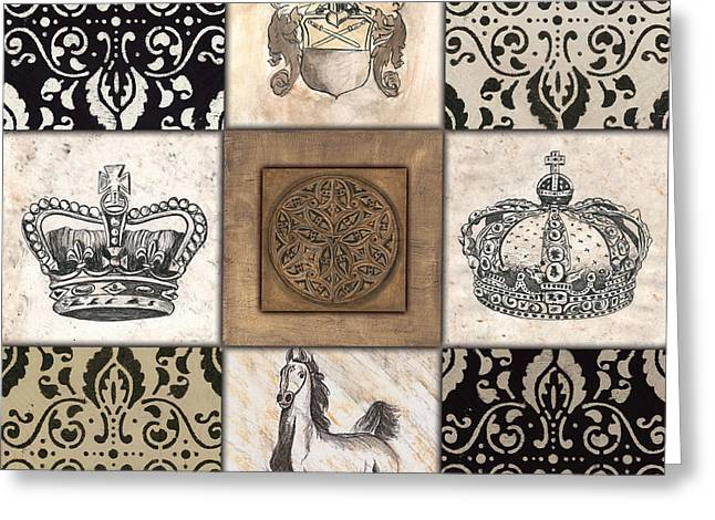Pen And Ink Greeting Cards - All Hail the Queen Greeting Card by Debbie DeWitt