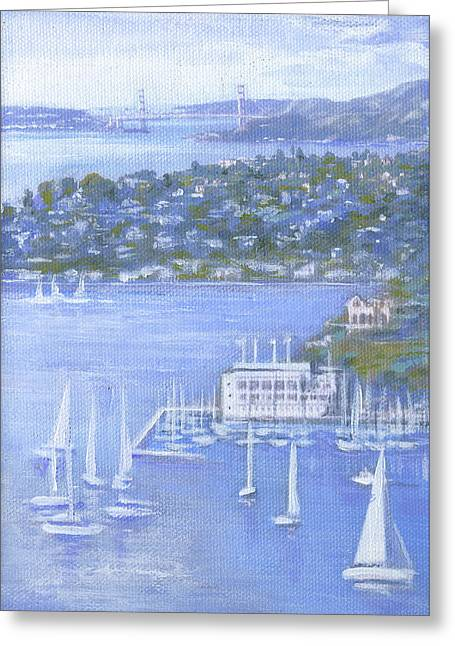 Tiburon Greeting Cards - All in One Greeting Card by Graciela Placak
