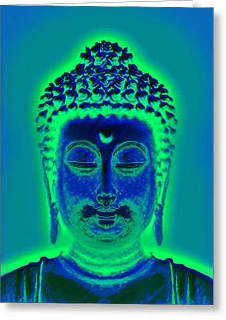 Devotional Art Mixed Media Greeting Cards - All is One Greeting Card by Li   van Saathoff