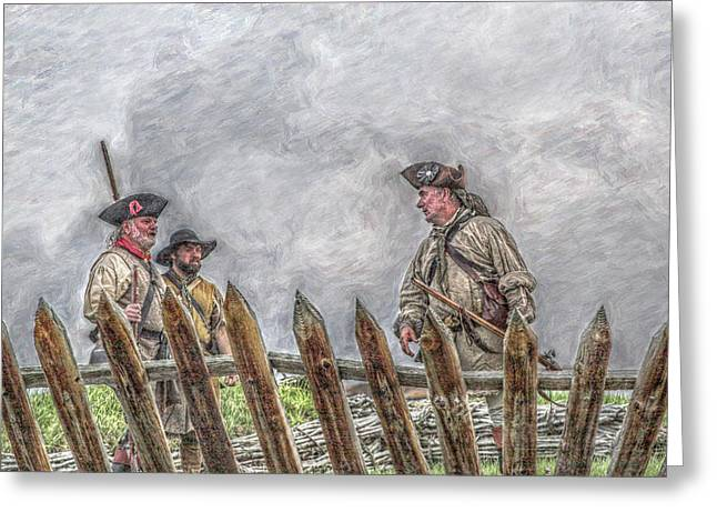 Rogers Rangers Greeting Cards - All is Well Fort Ligonier  Greeting Card by Randy Steele