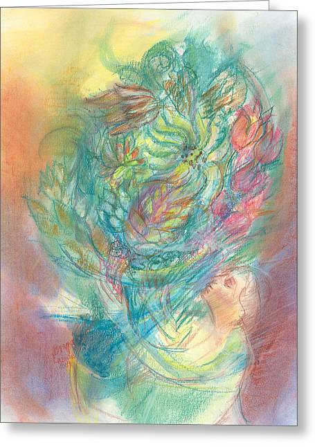 Many Pastels Greeting Cards - All My Blessings Greeting Card by Bryna La