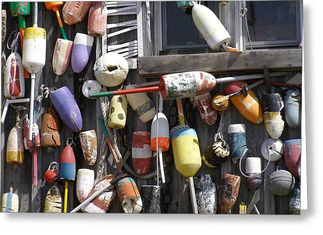 Maine Greeting Cards - All My Buoy Friends Greeting Card by Judith Hayes