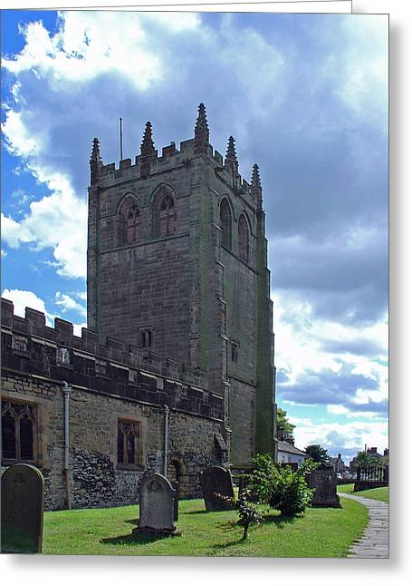 Churchyard Greeting Cards - All Saints Church - Youlegrave Greeting Card by Rod Johnson