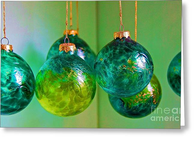 Christmas Cheer Greeting Cards - All Spruced Up Greeting Card by Debbi Granruth