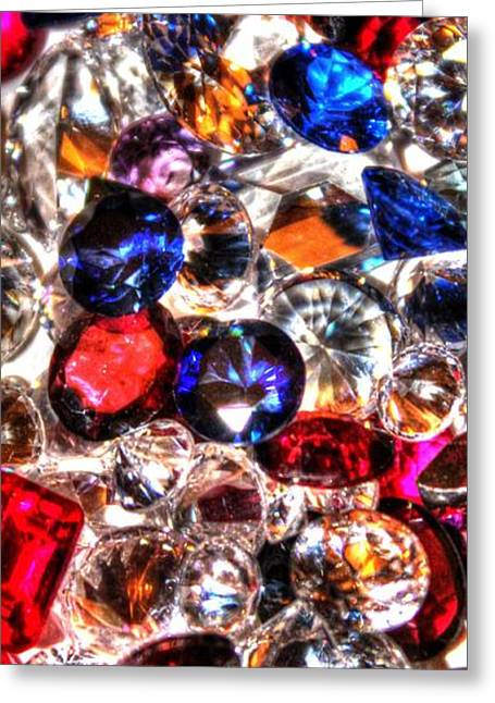 Birthstone Greeting Cards - All that Glitters Greeting Card by Kristina Barnes